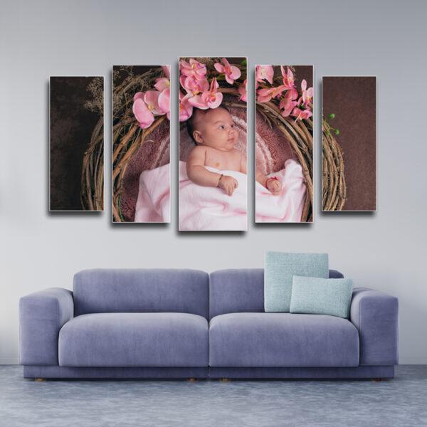 Пано за стена със снимка на клиента