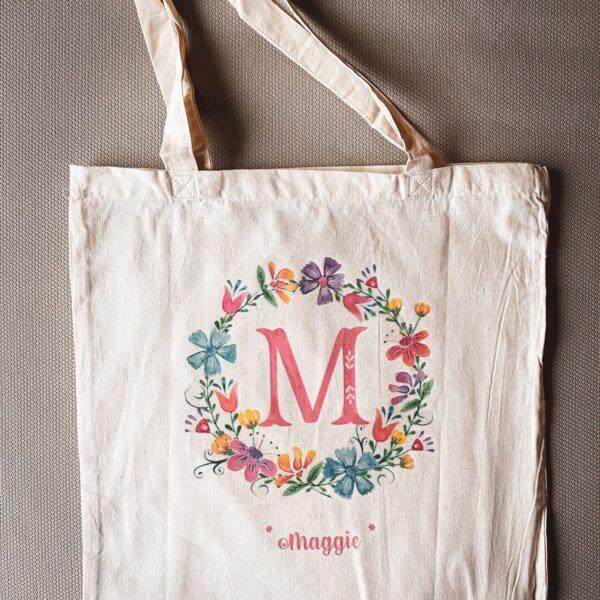Памучна чанта с принт Maggie's Bag
