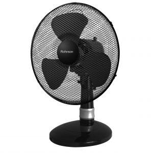 Вентилатор, 30 см, 40 W, 3 скорости ,Черен цвят и подсветка
