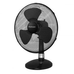 Вентилатор, 40 см, 50 W, 3 скорости ,Черен цвят и подсветка