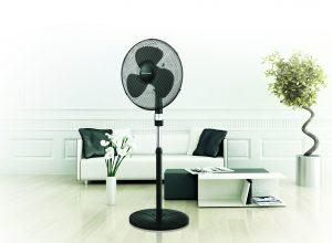 Вентилатор, 40 см, 50 W, стойка с дистанц. ,Черен,   настройка ,кръг