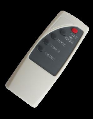 Вентилатор, 40 см, 50 W, стойка с дистанц. , бял,