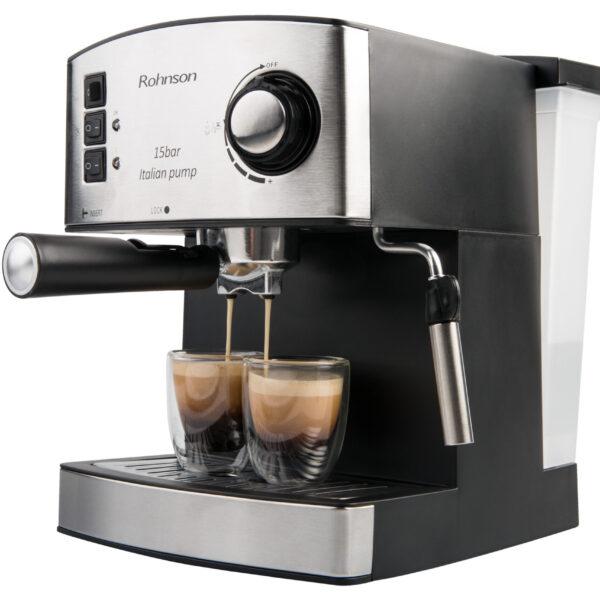 Кафемашина еспресо, 15 бара италианска помпа, Rohnson R-972