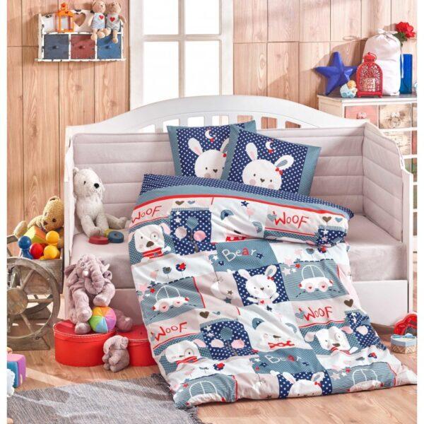 Бебешко спално бельо от 100% памук поплин - SNOOPY LAKIVERT