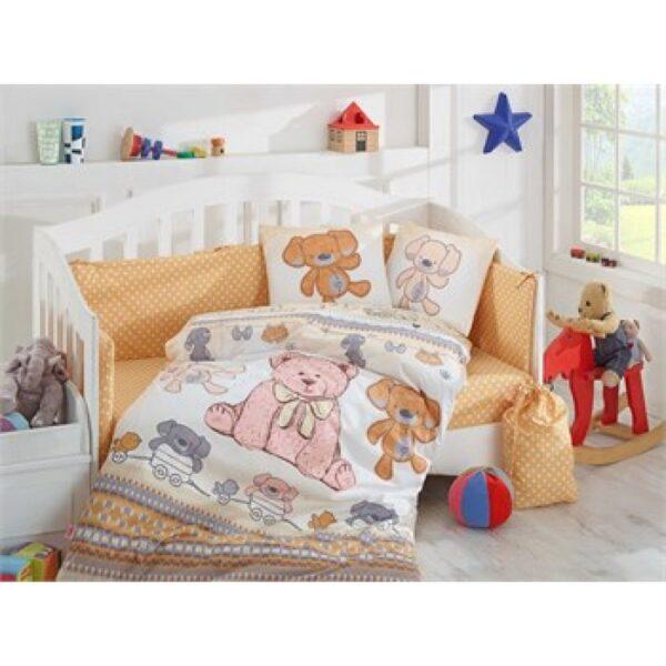 Бебешко спално бельо от 100% памук поплин - TOMBIK YELLOW