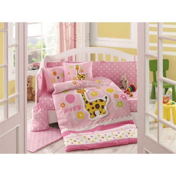 Бебешко спално бельо от 100% памук поплин - PUFFY PEMBE