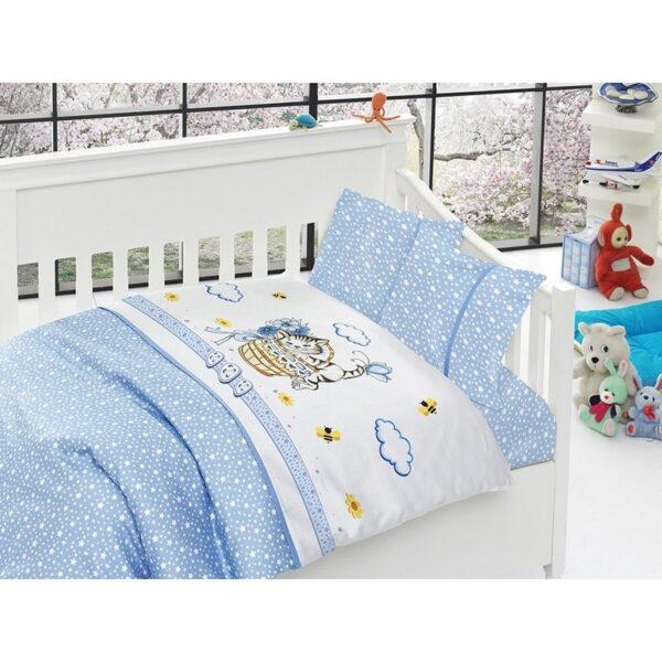 Бебешко спално бельо - Kitty Blue