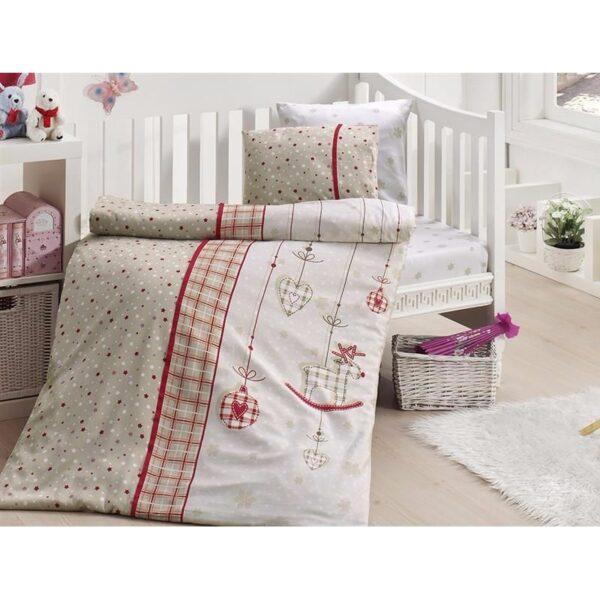 Бебешко спално бельо - Palmi Kirmizi