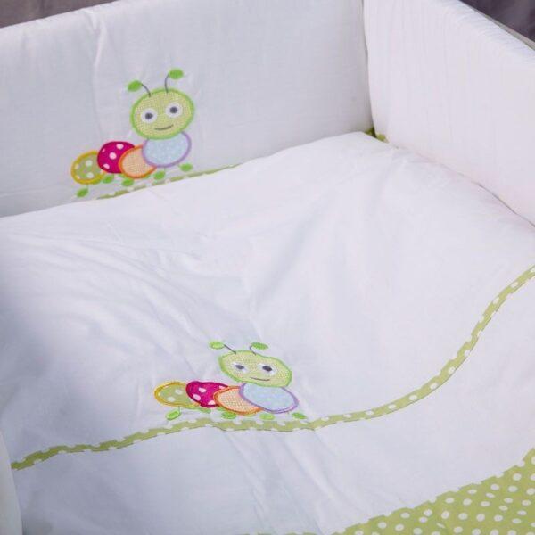 Бебешки спален комплект 4 части Гъсеница