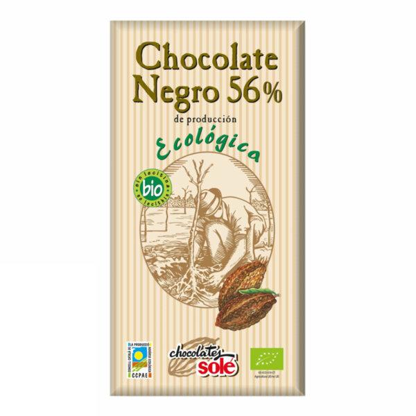 БИО ЧЕРЕН ШОКОЛАД 56% 100 Г - CHOCOATE SOLE