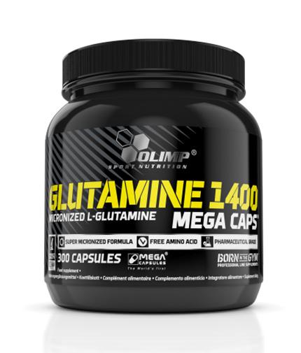 OLIMP L-GLUTAMINE MEGA CAPS 300 КАПСУЛИ
