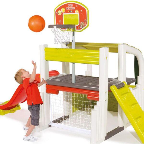 Smoby Детски център за игра с баскетболен кош