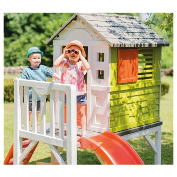 Smoby Къща с веранда и пързалка