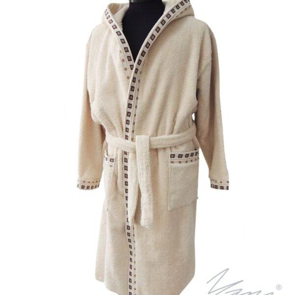 Yana- Дамски хавлиен халат Мишел в екрю